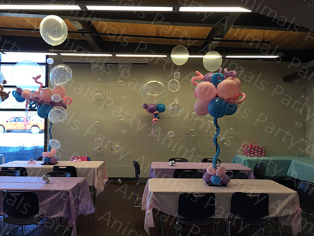 Party Animals Birthday Centerpieces and Around the room decor 2